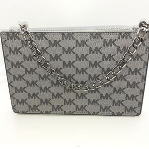Michael Kors signature gray metal chain fanny pack